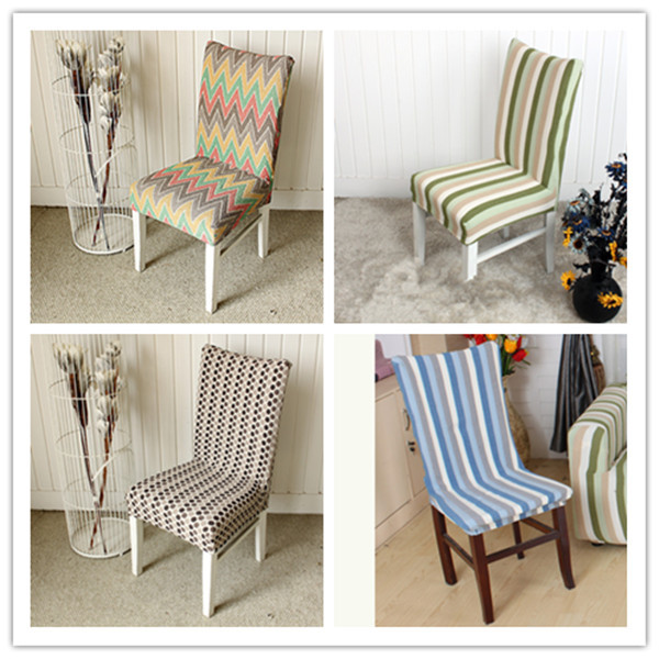 Home Textile Printed Elastic Force Dining Chair Covers Hotel Beach Office Seat Cover Decor Chair Cover 4PCS/LOT(China (Mainland))
