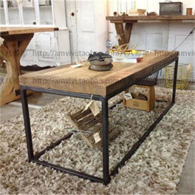 However, the home side table LOFT gifted American Iron vintage wood coffee table antique furniture casual living room coffee tab(China (Mainland))