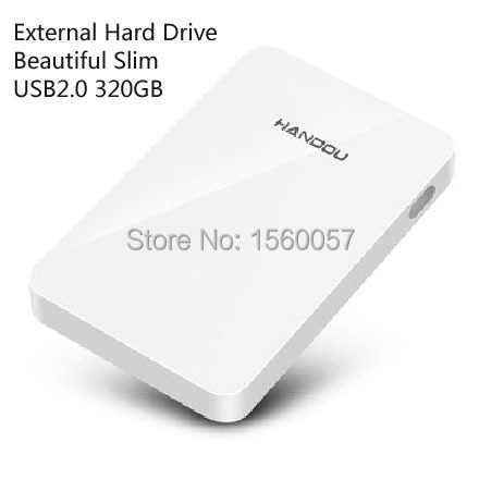Good price Free shipping 2.5'' Beautiful Slim Original USB2.0 External Hard Drive 320GB Mobile Portable HDD Disk Plug and Play(China (Mainland))