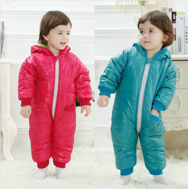 Free Shipping Baby Winter Jacket Baby Climb Clothes Neonatal Thickening Hooded Jumpsuit Sleeping Bag Infant Winter Clothes(China (Mainland))
