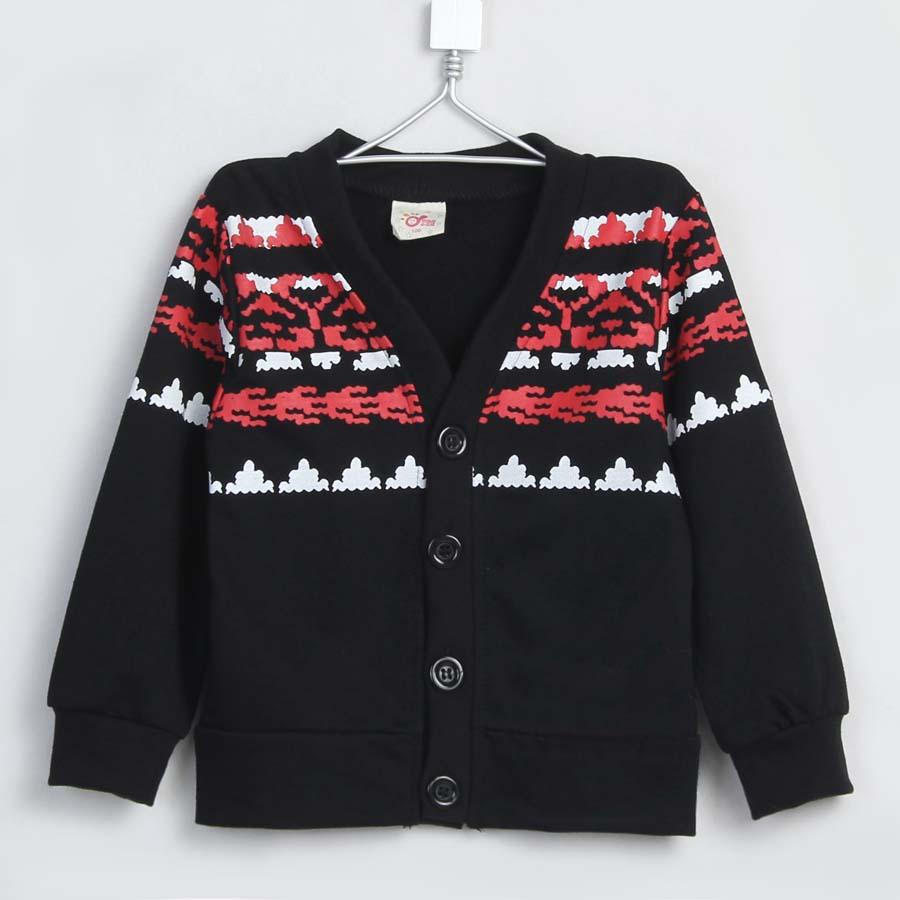 2015 spring korean version boys girls V-neck cardigan kids casual outerwear A1500(China (Mainland))
