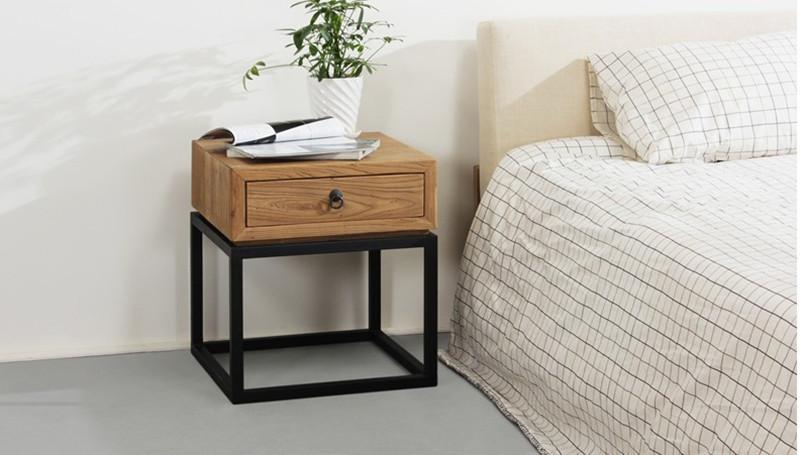 Ikea eenvoudige amerikaanse land grade hout nachtkastje opbergrek europese retro sofa creatieve - Sofa smeedijzeren ...