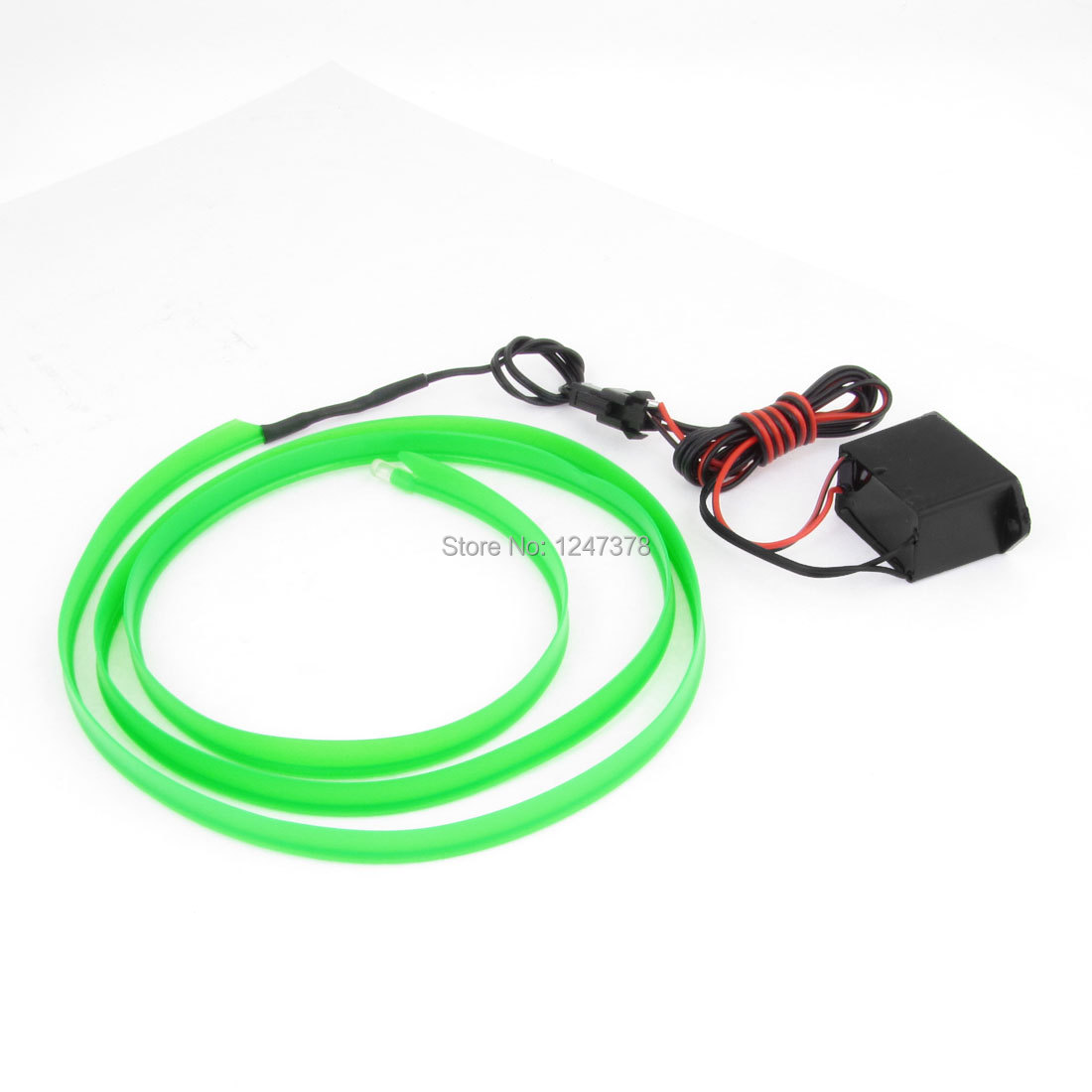 1 Meter Long 8mm Width Plastic Green EL Wire Neon Light Rope for Auto 1 Piece Decoration(China (Mainland))