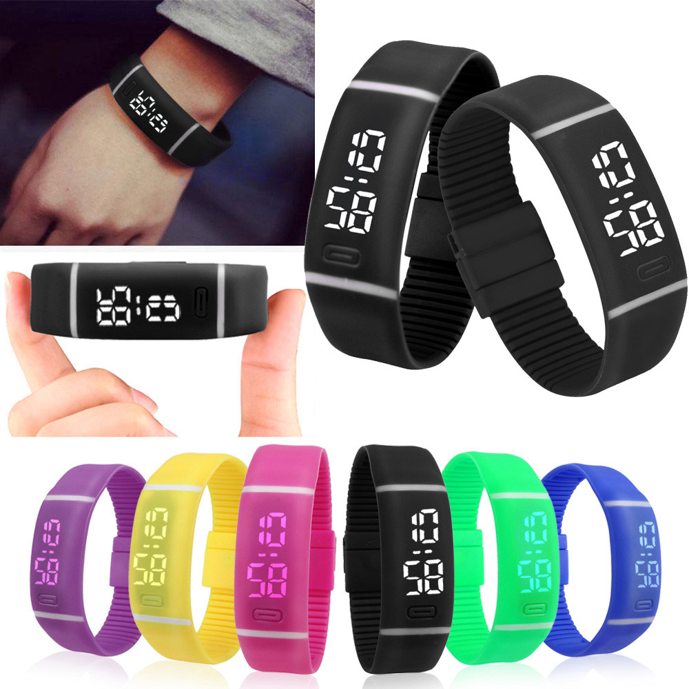 D6li Mens Womens Rubber LED Watch Date Sports Bracelet Digital Wrist Watch Nov30<br><br>Aliexpress