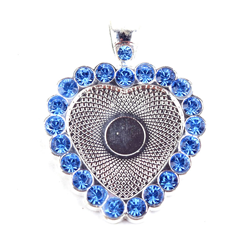 10 Pcs Alloy Cabochon Frame Setting Tray Pendant with Round Oval Glass Dome Tile Cabochon(China (Mainland))