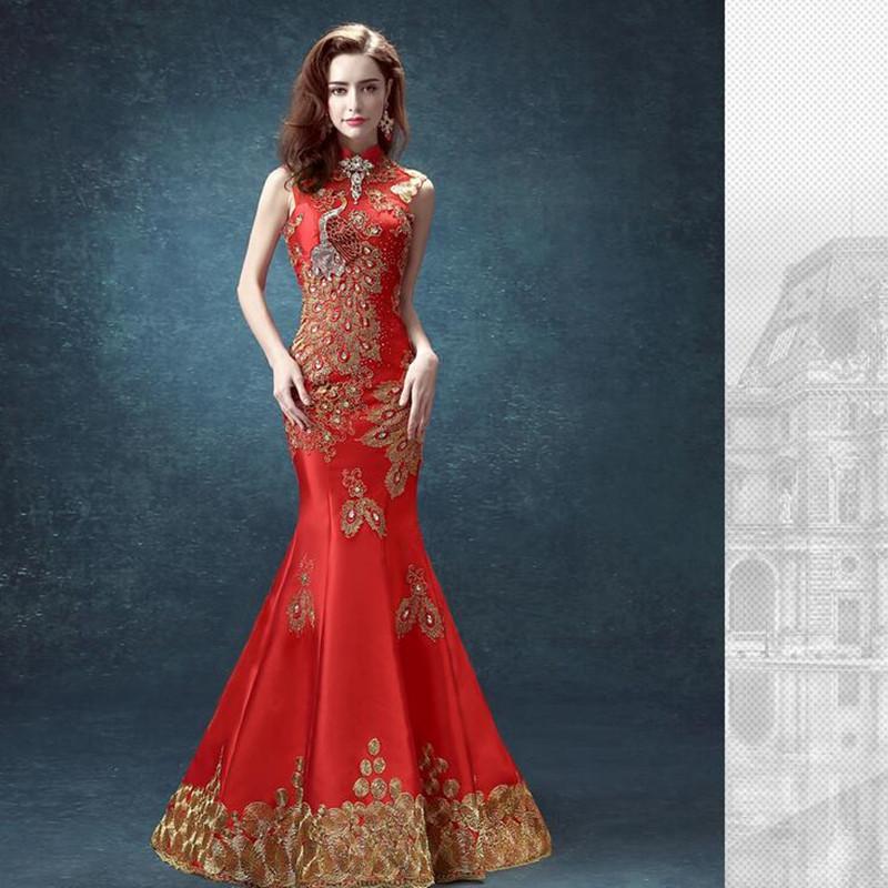 ... mariage chinois robe qipao dentelle qipao de mariage robe longue rouge