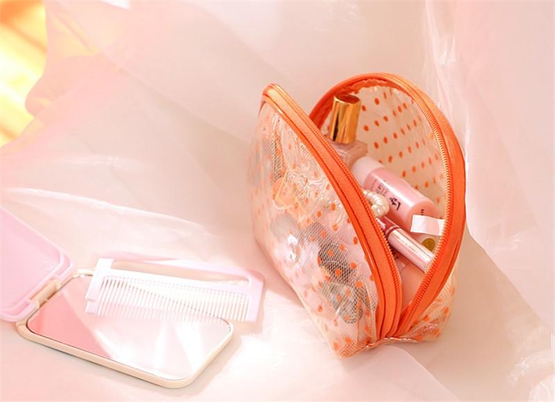2016 New Hot Sale Transparent Three Layers waterproof PVC Spot Shell Type Bag Women Cosmetics Bags HBG32 (9)