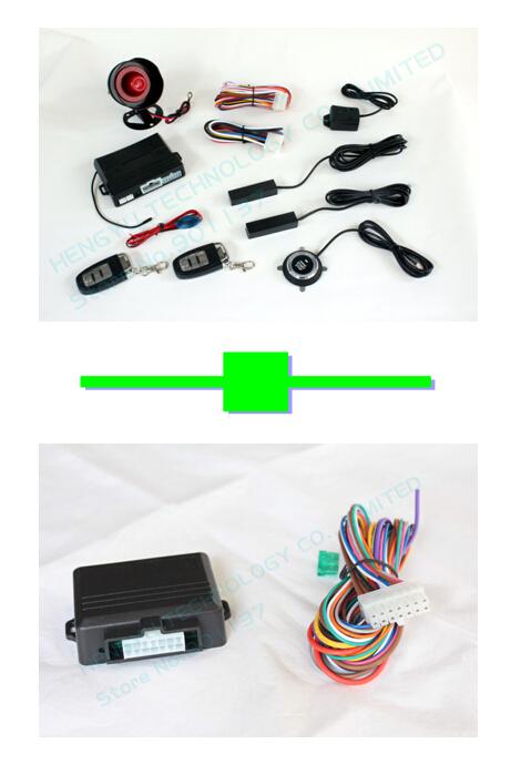 1 pcs push button engine start /PKE car alarm FS-58 keyless go + 1 pcs upgrade original remote with remote engine starter RI-S-B(China (Mainland))