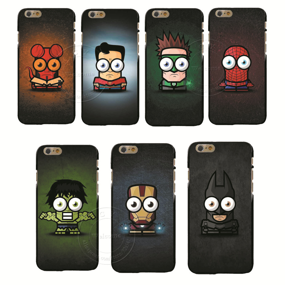 2015 Hot Sale New Arrive Super hero Hard Case Cartoon Case Cover for Apple iPhone 6 6 Plus Free shipping(China (Mainland))