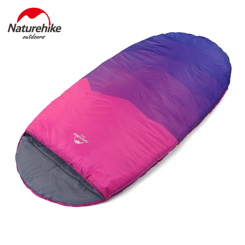 NH cool shell big space pretty color sleeping bag super large widening sleeping bags winter spring warm 230cm*100cm single(China (Mainland))
