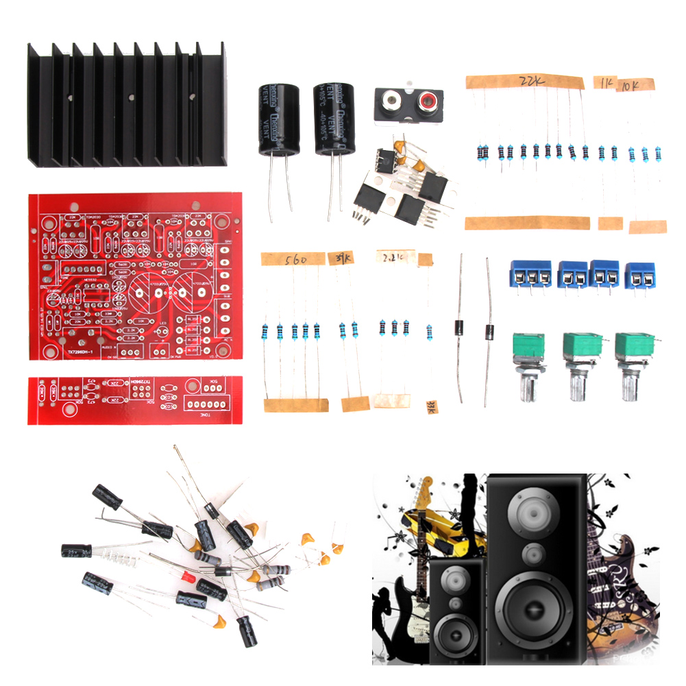 12v 2x18w 3ch Subwoofer Tda2030 21 Stereo Digital Audio Amplifier Circuits Gt Making A Homemade Power Pcb Layout Included Board Diy Kits High Quality Us114