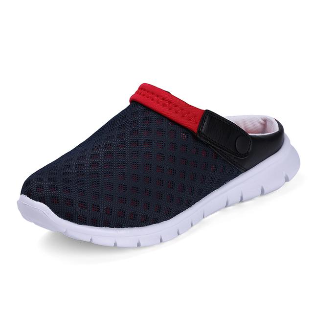 2016 летом сандалии мужские обувь из натуральной кожи открытым носком сандалии тапочки ...