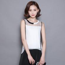 Blusas 2016 summer women blouses chiffon blouse female shirts plus size blusa patchwork vintage Casual tops