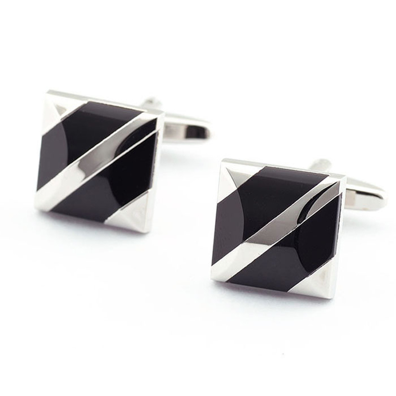 Explosion models square black onyx cufflinks French shirt cuff nail Cufflinks High Quality Good GIFT for Father's Day(China (Mainland))