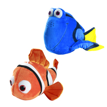 """NEW Finding Dory 20cm 8"""" Regal Blue Tang Finding Nemo 23cm 9"""" Clownfish Stuffed Plush Toy With Sucker(China (Mainland))"""