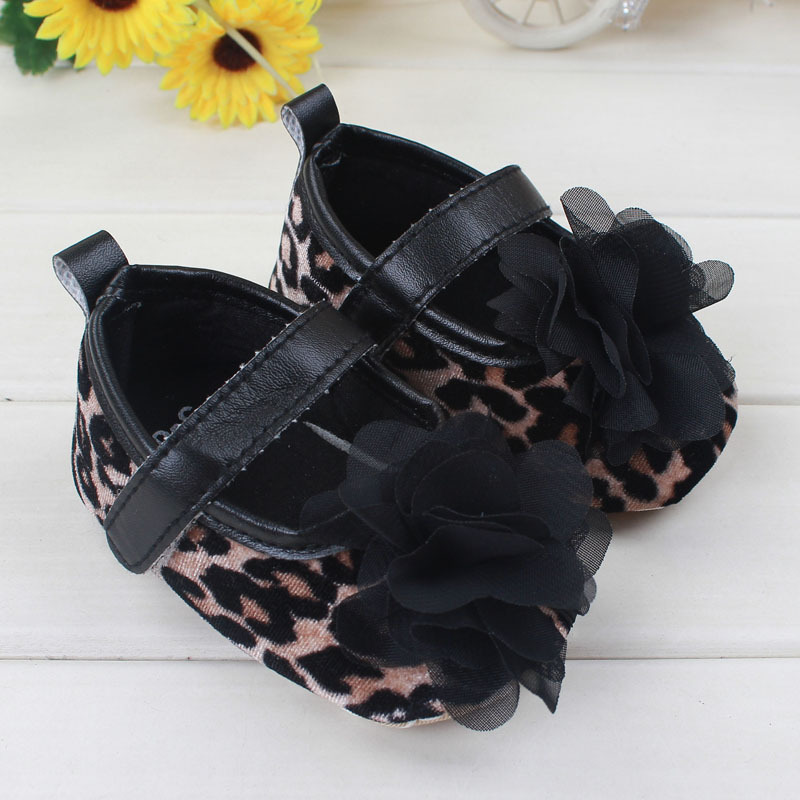 2015 Kids Girls Floral Leopard Shoes Baby Girl Princess Shoes Girl Soft Bottom Anti-slip  Shoes  Kids  First Walker Shoes
