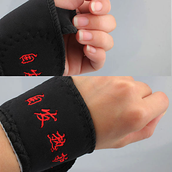 2 Pcs Magnetic Therapy Wrist Brace Protection Belt Spontaneous Heating hv3n(China (Mainland))
