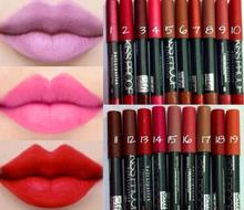 New 2015 19 Colors Sexy Beauty Waterproof Lip Pencil Lipstick Lip Gloss Makeup(China (Mainland))