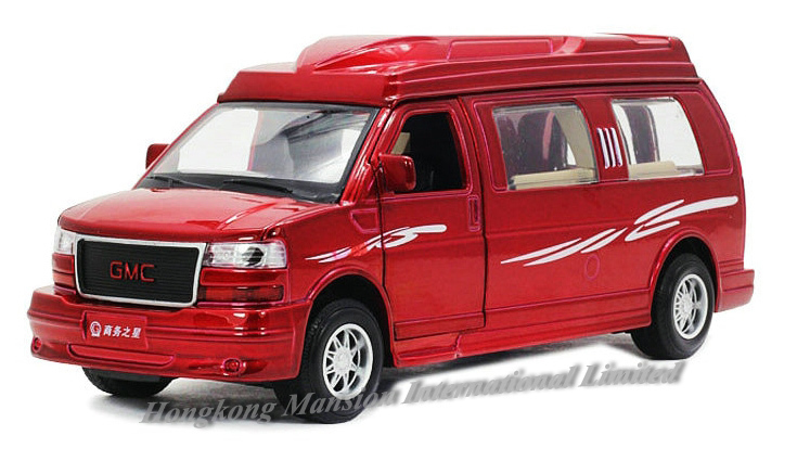 1:32 Scale Alloy Diecast Metal Car Model For GMC Savana Collection Model Pull Back Toys Car With Sound&Light-Red / White / Black(China (Mainland))