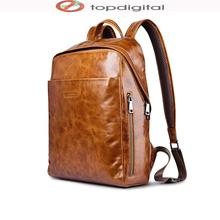 icarer Origin Waterproof Vintage Genuine Leather Backpack, Multi Pockets Travel Sports Business Bag, Large Capacity, Tablet Bag(China (Mainland))
