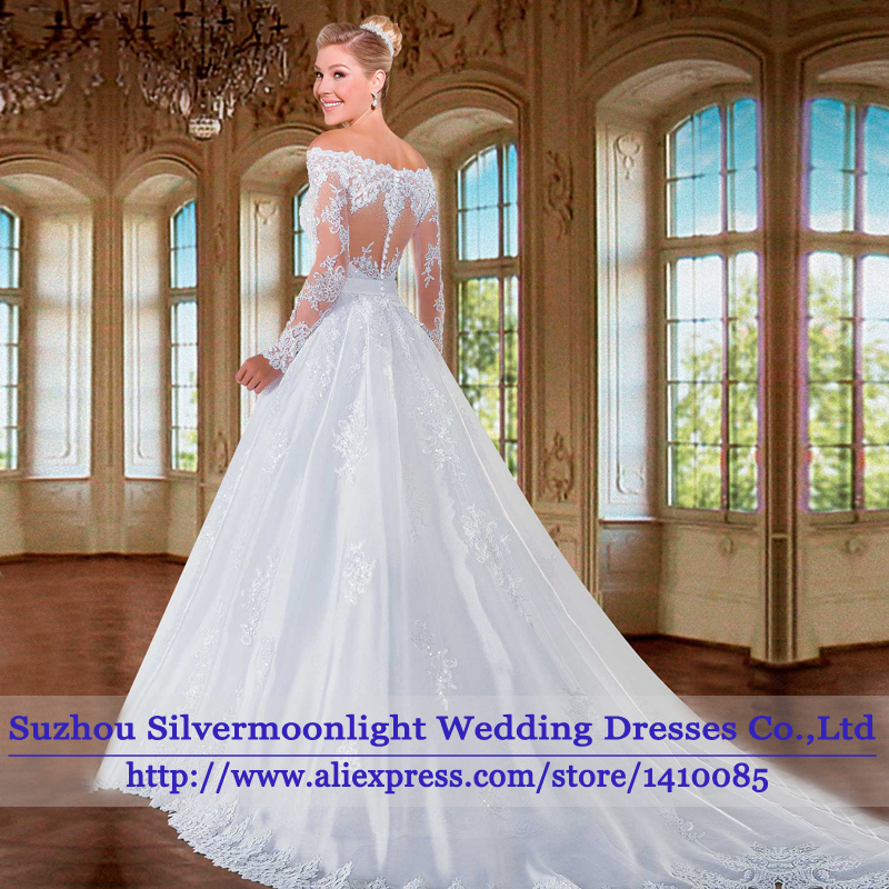 Ball Gown Wedding Dresses With Lace Back : Aliexpress buy vestido de novia sexy ball gown