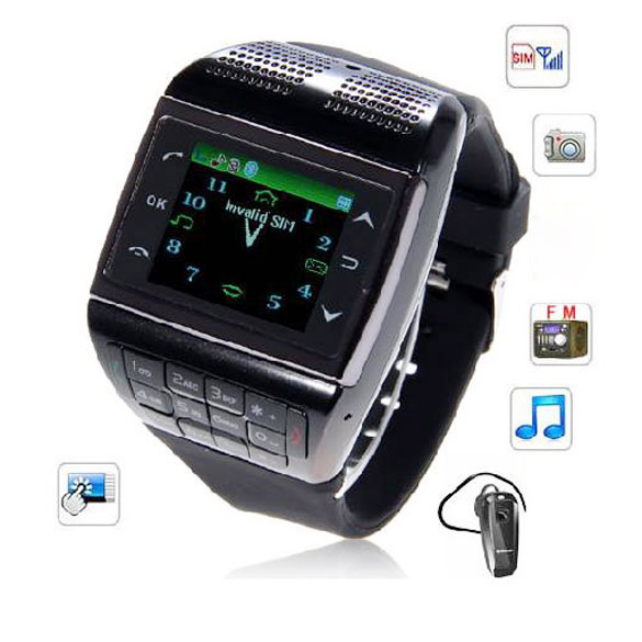 Wrist Watch Cell Phone V6 Watch Phone 1.33 inch Touch Screen Touch Dedicated Key 88(China (Mainland))
