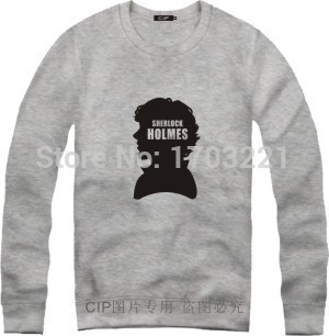 Holmes Hoodie Fleece M-4XL Plus Size Memorial Clothing Coat Cool Sweatshirt Streetwear British Drama Sherlock Holmes Hoodie(China (Mainland))