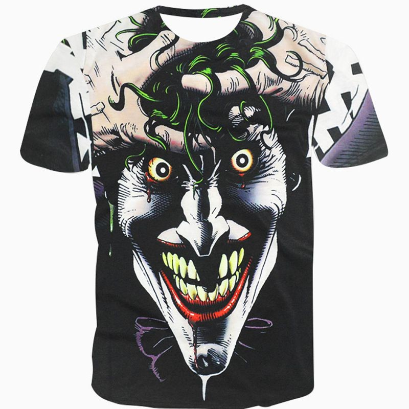 Halloween Joker 3D T shirt Casual Funny Anmie Character Joker Poker 3D T-shirt Summer style Full Printing Tops Tees (7)