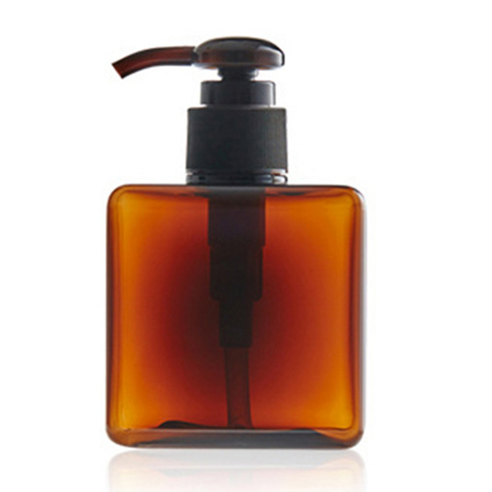 250ml Plastic PET Empty Soap Shampoo Pump Square Bottle Lotion Shower GEL Travel Press Refillable Makeup Bottles Containers(China (Mainland))