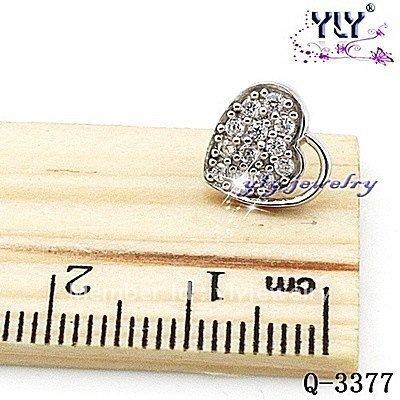 Wholesale Heart Type Earrings,Zircon Earrings,925 Silver Stud Earrings,Free Shippings Q-2896-W