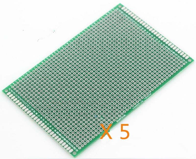 A Set of 5pcs Double-sided Solderable PCB Board Breadboard Prototype 8cm x 12cm(China (Mainland))