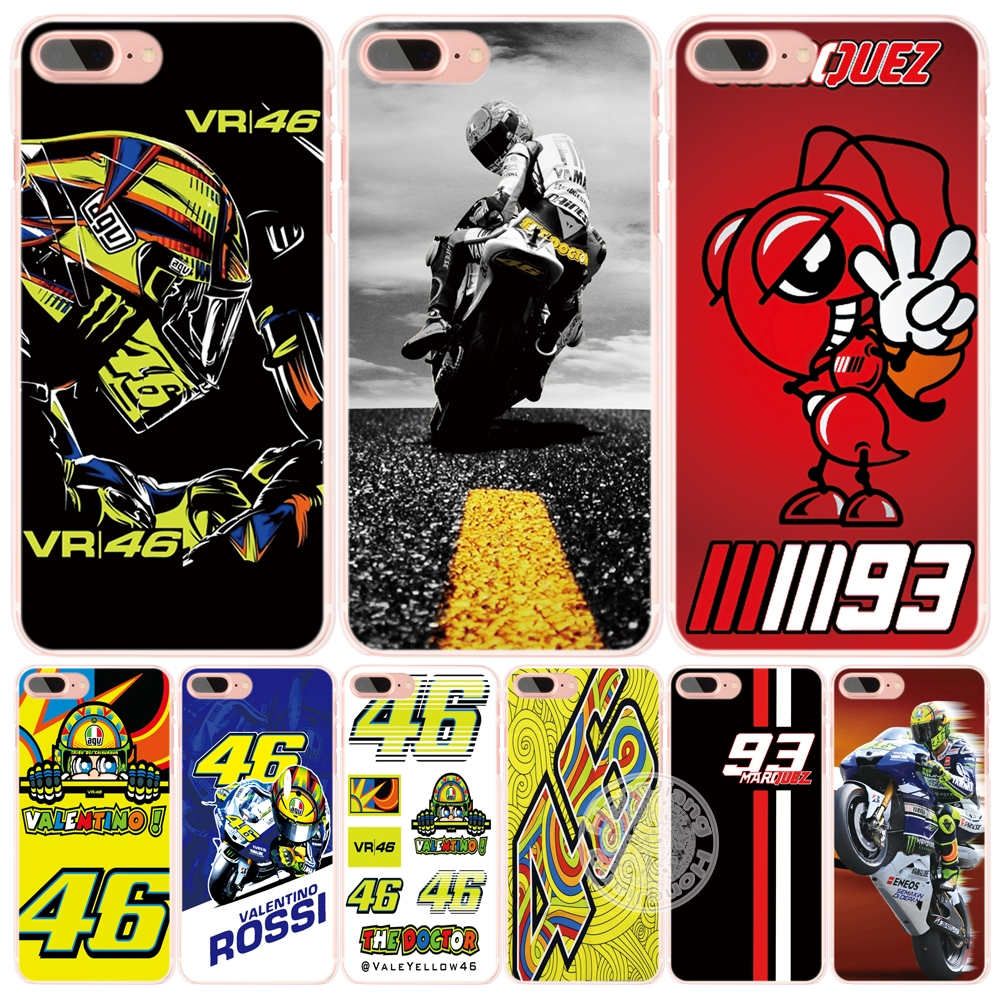 VR46 Valentino Rossi Marc Marquez 93 cell phone Cover case for iphone 6 4 4s 5 5s SE 5c 6 6s 7 plus case for iphone 7(China (Mainland))