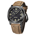 MEGIR 2016 Fashion Men Sports Watches Men s Quartz Hour Date Clock Brown Leather Strap Military