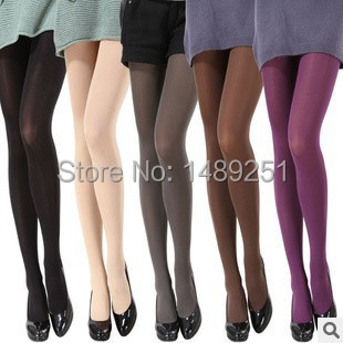 2015 New Women Sexy Pantyhose Autumn Winter Nylon Tights 120D Velvet Candy Color Stockings Step Foot Seamless Pantyhose Hot Sale(China (Mainland))
