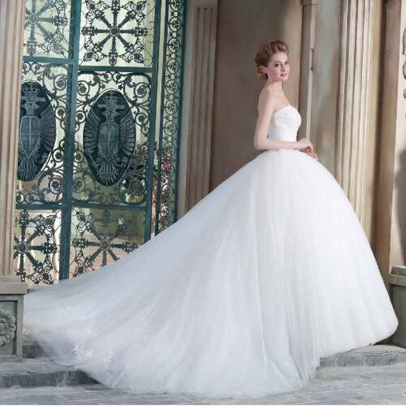 Wedding Dresses Real : New ball gown sweetheart sleeveless bridal dresses real image