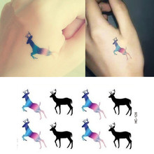 2016 Water-proof stickers posted waters Harajuku deer tattoos stickers HC-126(China (Mainland))