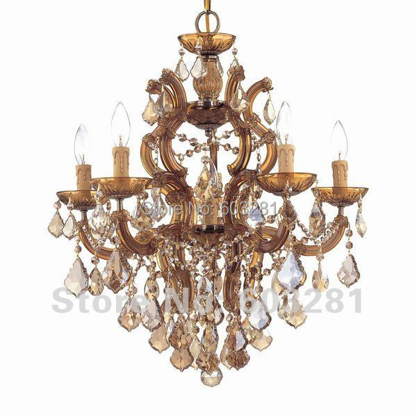 Autumn Lighting 4004 Golden Teak,Maria Theresa 6-Light Chandelier,Antique Brass Polished Chrome Gold + - AUTUMN LIGHTING FACTORY store