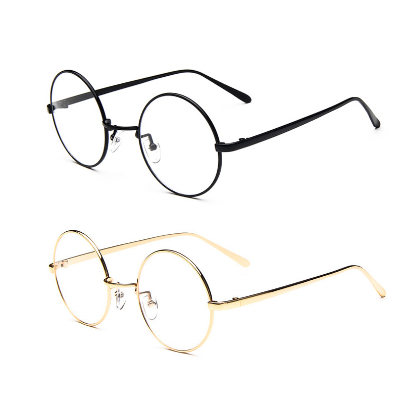 low selling prices round glasses restoring ancient ways men and women small pure and fresh and high quality metal glasses frame