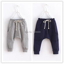 Hot Sale New 2016 children pants, harem pants kids new style fashion cotton boy girl pants baby harem pants 1-8 year(China (Mainland))