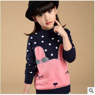 2015 new autumn and winter knit sweater bottoming girls sweater children's clothing  sweater Girls jacket children sweater