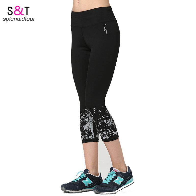 2016 New Fashion Women's Women Flame Sports Leggings Fitness 7 Points Capris Printing Rams Jersey Tracksuits Broadcloth Pants(China (Mainland))