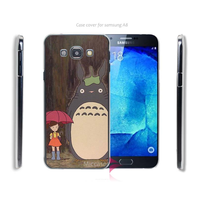Totoro A1200 Hard Transparent Clear Case Cover for Samsung Galaxy A3 A5 A5100 A7 A7100 A8 A9(China (Mainland))