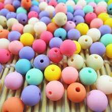 Buy 6.8.10.12.14mm Acrylic Round Gumball Neon Rubber Spacer Beads Wholesale Mixed Color DIY Jewelry Making for $5.27 in AliExpress store