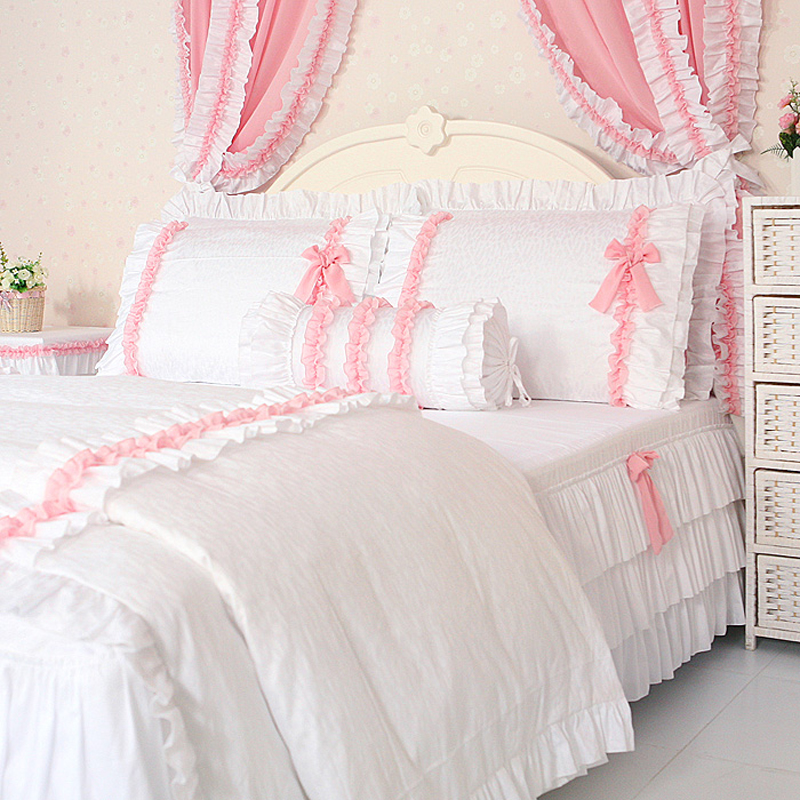 Achetez en gros blanc roi taille couvre lit en ligne des grossistes blanc r - Taille lit queen size ...