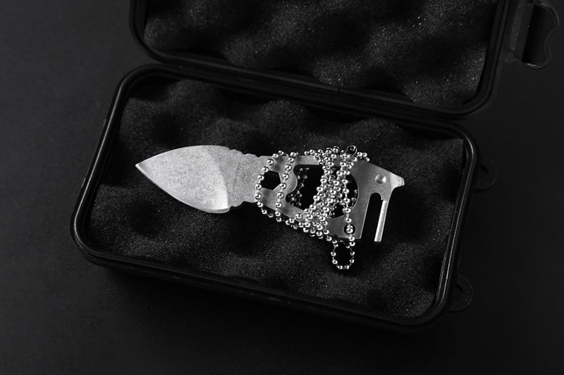 Buy Brand Multifunctional Planer Scraper outdoor camping tool case dagger Swiss Army knife Pendant steel Tactical military Key chain cheap