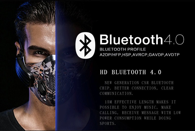 Wireless Bluetooth Earphone with Mic face Mask Anti Dust Stereo Music Handfree Headset Bone Conduction Headphone for IOS Android