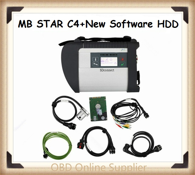 21 Languages New MB Star C4 MB SD connect 4 diagnosis compact 4 diagnostic tool with 2015.12 HDD Software 3 year warranty by DHL(China (Mainland))