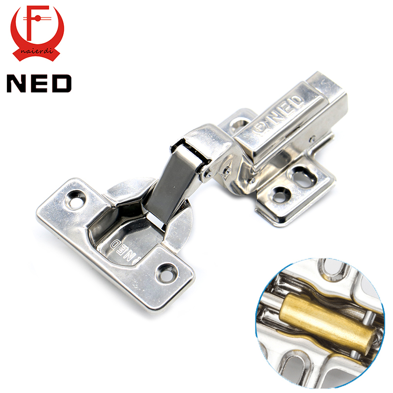NED Full Size Strong 40MM Cup Hinges Stainless Steel Hydraulic Copper Core Hinge For Cupboard Cabinet Door Furniture Hardware(China (Mainland))