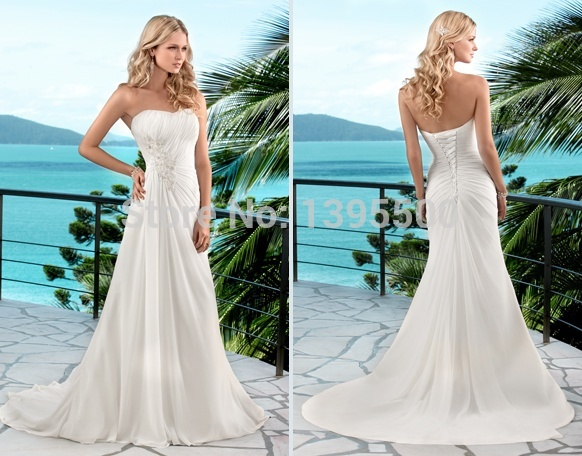 Bridesmaid Dresses Casual Summer Wedding: Mariage casual beach ...