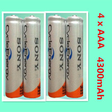 Brand New high quality NI MH – AAA HR03 AAA Rechargeable Batteries For 'with a 1.2 V 4300 mah Rechargeable remote control'